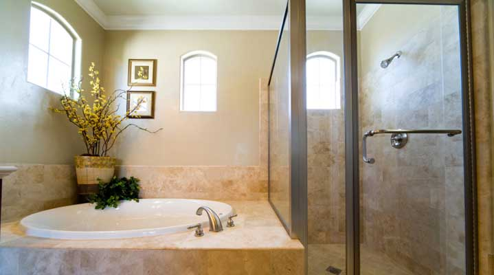 A custom bathroom design used by our plumbers Asheville NC