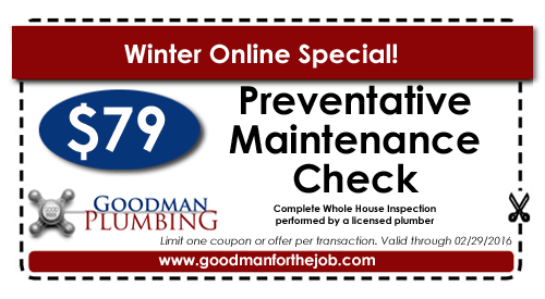 Plumbing Maintenance Coupon