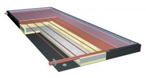 Diagram of solar hot water collector